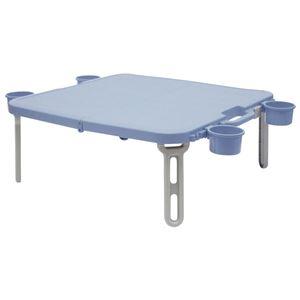パピヨン レジャーテーブル/折りたたみテーブル 【ブルー】 幅55cm 日本製 プラスチック製 『キャンパーズコレクション』