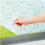 窓ガラスシート/ウィンドウシート 【ブルーレース 同色2枚組】 90cm×180cm 日本製 UVカット率約95% 『窓ピタシート』