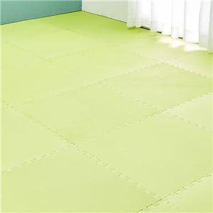 大判サイズ ジョイントマット/フロアマット 【グリーン】 60cm×60cm 24枚組 洗える 防音 撥水 EVA樹脂素材