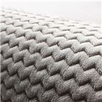 シンプル ラグマット/絨毯 【グレー 約92×185cm】 長方形 ホットカーペット対応 防滑加工 ウレタンフォーム