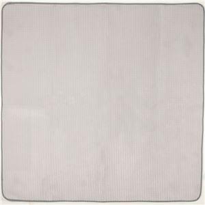 シンプル ラグマット/絨毯 【グレー 約200×240cm】 長方形 ホットカーペット対応 防滑加工 ウレタンフォーム