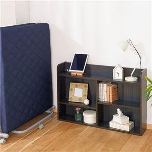 ベッド用 スリムラック/収納棚 【幅90cm×奥行20cm×高さ60cm】 棚板調整可 〔寝室 ベッドルーム〕