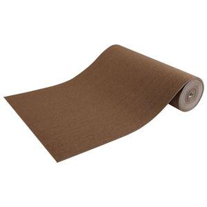 シンプル ラグマット/絨毯 【ブラウン】 ロングサイズ 幅60cm×奥行600cm 日本製 洗える ポリエステル 『ピタッと吸着マット』