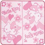 キティちゃん PPラグマット/絨毯 【ピンク 約88cm×176cm】 長方形 ポリプロピレン 〔リビング ダイニング〕
