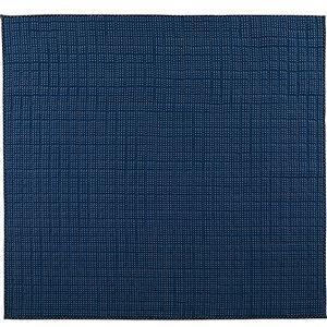 さわやかキルトラグマット/絨毯 【ネイビー 約130cm×185cm】 洗える 綿100% 防滑 『グロワール』 〔リビング〕