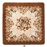モダン ラグマット/絨毯 【2畳 ローズブラウン】 正方形 カービング加工 〔リビング ダイニング ベッドルーム〕