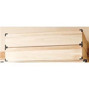 桐製 衣装箱/チェスト 【2個組】 幅91×奥行42×高さ17cm 木製 スタッキング可 たとう紙対応 〔寝室 ベッドルーム〕 - 拡大画像