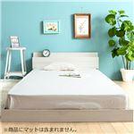 おすすめ【ベッドフレーム単品】スマホが置ける棚付ベッド<ローベッド すのこベッド 棚付ベッド>