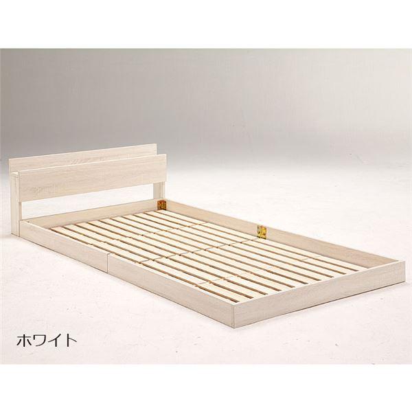 おすすめ!北欧産天然木パイン材高さ3段階調整脚付きすのこベッド(ポケットコイルロールマットレス付き)画像06