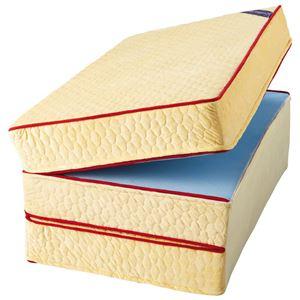 マットレス 【厚さ15cm セミダブル 高反発】 日本製 洗えるカバー付 通年使用可 リバーシブル 『エクセレントスリーパー5』 - 拡大画像