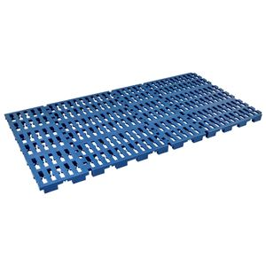軽量 すのこベッド/寝具 【ネイビー シングル】 幅111cm 日本製 樹脂製 防湿対策 防カビ対策 〔寝室 ベッドルーム〕 - 拡大画像