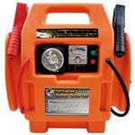 非常用充電器/カー用品 【横32×縦34×厚さ16cm】 LED非常灯付き 『ポータブルジャンプスターター』 〔防災 災害 避難 緊急〕