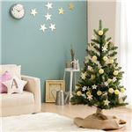 北欧風 クリスマスツリーセット 【高さ120cm】 LEDイルミネーション・木製オーナメント付き 組立片付け簡単