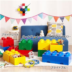 【LEGO (R) レゴ】 収納ボックス 【ブライトレッド】 引出しタイプ ワイドタイプ 『ブリックドロワー8/ブリックドロワー4』 - 拡大画像