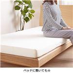 フラット マットレス 【ダブル】 極厚10cm 硬め150N 日本製 寝返りをサポート『硬めの寝心地』 〔ベッドルーム 寝室〕