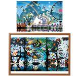 【藤城清治】 額付きパズルセット 【1000ピース】 50cm×75cm 日本製 セット木製額付