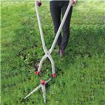 軽量 草刈り用品/ガーデニング用品 【幅25cm】 草刈り鎌付き ステンレス刃 角度調整可 アルミハンドル付き 『たち刈る君』