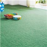 防音 ラグマット/絨毯 【本間6畳 約286×382cm グリーン】 洗える 撥水 抗菌防臭 フリーカット可能 不織布 日本製