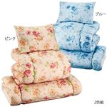 抗菌・防臭 2柄から選べる布団6点セット レギュラータイプ 2色組 フラワー