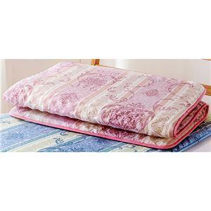 体圧分散 マットレス/寝具 【シングル 約90×200cm ピンク】 軽量 日本製 ウレタンフォーム 〔ベッドルーム 寝室〕 - 拡大画像