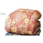 掛け布団/寝具 【ダブルサイズ ピンク】 約190×210cm 日本製 吸放湿性 吸湿発熱 〔ベッドルーム 寝室〕