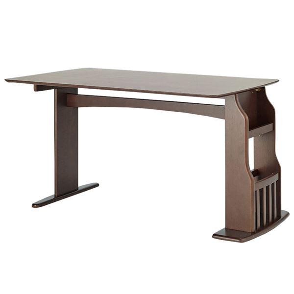 ダイニングテーブル/食卓机 【幅135×奥行80×高さ71.5cm】 ラバーウッド 組立品 〔リビング〕