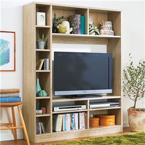 壁面テレビボード ホワイトオーク 組立品 - 拡大画像