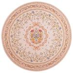ブーケ柄ゴブラン織カーペット/絨毯 【円形 約190cm ピンク】 ホットカーペットカバー・床暖房対応 すべりにくい加工
