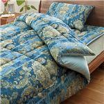 日本製羊毛100% 布団セット シングル 3点セット(掛布団・敷布団・枕) ブルー