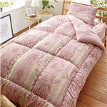 日本製制菌寝具セット シングル 3点セット(掛布団・敷布団・枕) ピンク