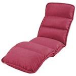 収納簡単 低反発 座椅子/フロアチェア 【スリムタイプ ピンク】 約幅55cm 折りたたみ スチールパイプ ウレタンフォーム