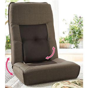 ハイバック腰楽座椅子 ブラウン 1脚 - 拡大画像