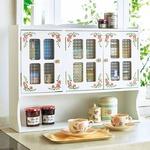 エレガントなバラ柄キッチンシリーズ 調味料ラック 大 約幅63×奥行16×高さ50cm 完成品
