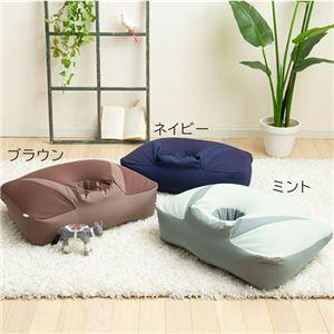 寝落ちピローうつぶせ枕ゲームクッション ミント - 拡大画像