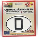 HR プラスチックデコエンブレム D(ドイツ) ホワイト L