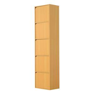 A4サイズ収納OK!扉付きカラーボックス【-5ivox-フィボックス】 ナチュラル h01
