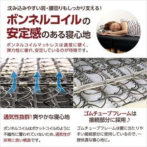 脚付きマットレスベッド 【シングルサイズ/ピンク】 ボンネルコイル 『Parnet』 分割タイプ f06