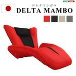デザイン座椅子/リクライニングチェア 【ベージュ】 14段階ギア調節可 『DELTA MANBO』 メッシュ生地 日本製 【完成品】