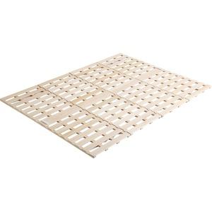 【耐荷重180kg】 折りたたみ式 すのこベッド ダブルサイズ (フレームのみ) 桐製 4つ折り 布団対応
