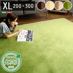 高密度フランネルマイクロファイバー・ラグマットXLサイズ(200×300cm)洗えるラグマット ナルトレア ブラウン