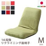 リクライニング座椅子/フロアチェア 【Mサイズ ブルー】 流線形フォルム 日本製 『Leraar-リーラー-』
