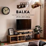 ヴィンテージ風 伸縮テレビ台/テレビボード 【組立品 ウォールナット】 幅約75〜135cm 『BALKA』 〔リビング〕