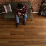 はめこみ式フロアタイル ウォールナット 12枚セット 【Wood Flats-ウッドフラッツ-】