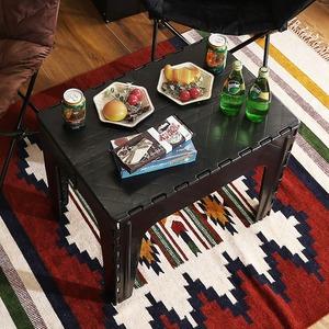 アウトドアテーブル ブラック 完成品 - 拡大画像