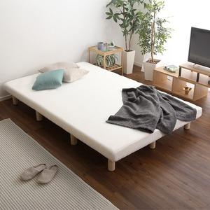脚付きマットレスベッド ウレタンロールマットレス セミダブルサイズ ホワイト 組立品 - 拡大画像