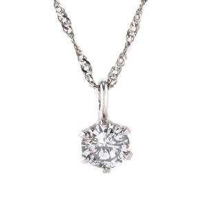 レディース ネックレス 純プラチナ ダイヤモンド 一粒 0.1c tペンダント - 拡大画像
