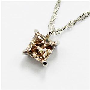 ブラウンダイヤモンドプラチナネックレス