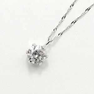 プラチナ900 0.55ct ダイヤモンドペンダント/ネックレス - 拡大画像
