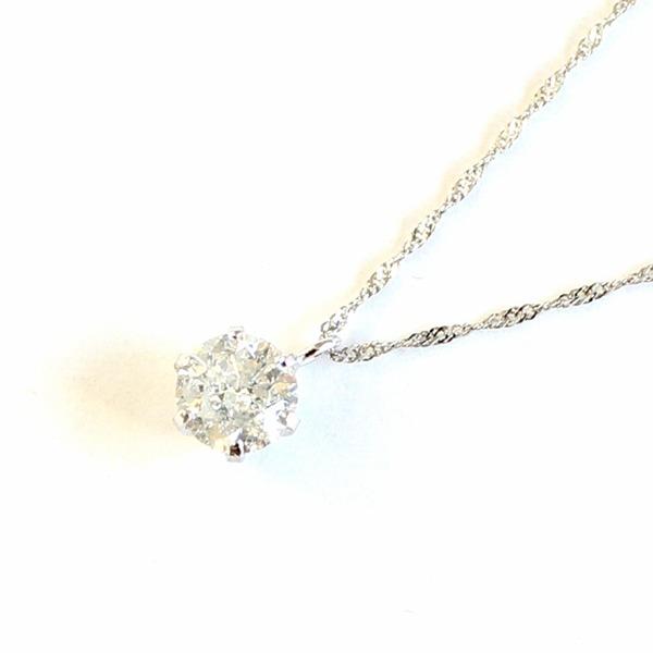 プラチナ900 0.5ct ダイヤモンドペンダント/ネックレス1