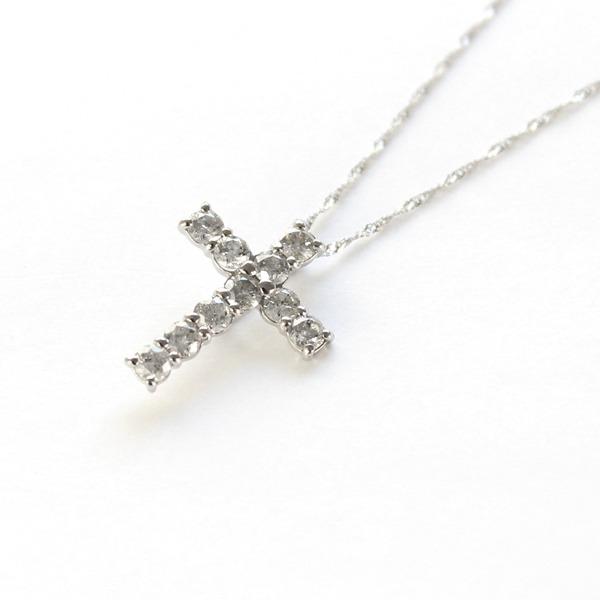 純プラチナ 0.5ct ダイヤモンド クロスペンダント6